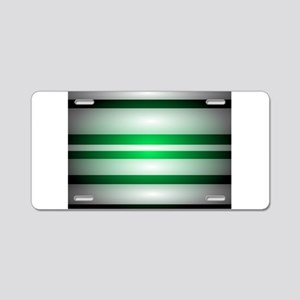 Green Light Aluminum License Plate
